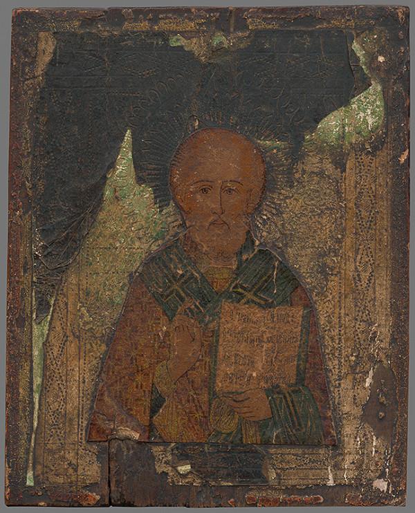 Ruský maliar z 1. polovice 17. storočia - Svätec s knihou