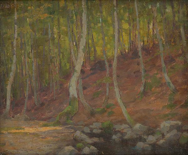 Ľudovít Čordák – Listnatý les s potokom