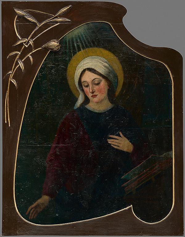 Slovenský maliar z 2. polovice 19. storočia – Madona