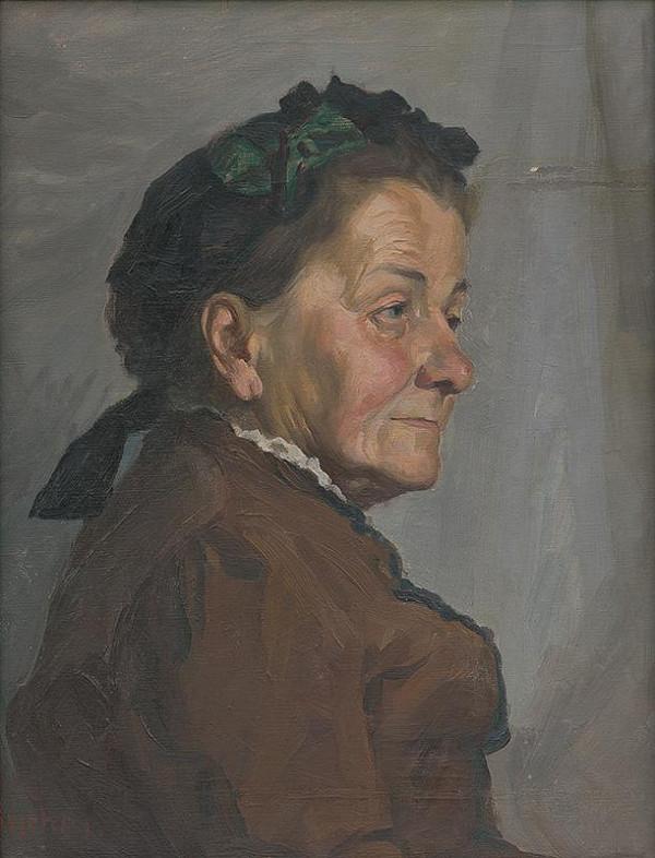 Peter Július Kern – Štúdia k podobizni stareny