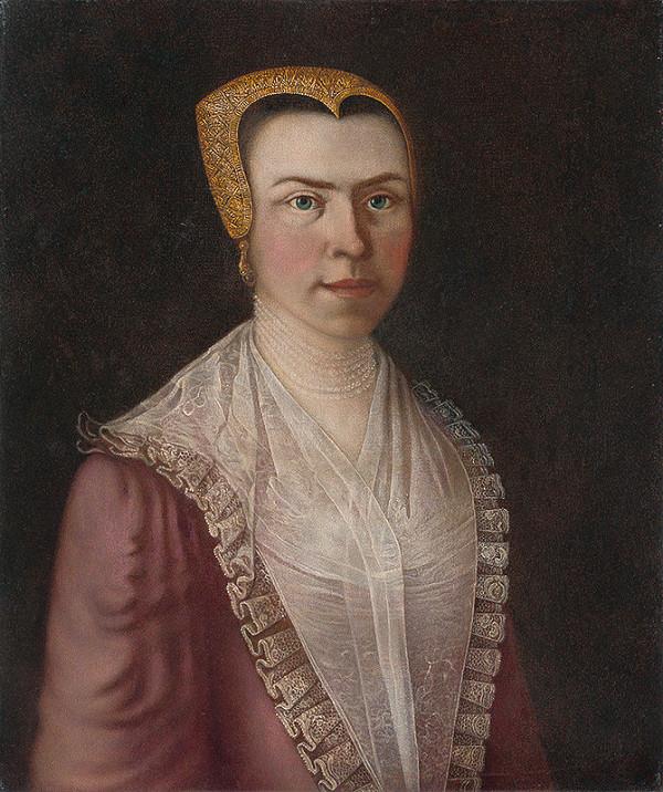 Slovenský maliar z 19. storočia – Portrét dámy
