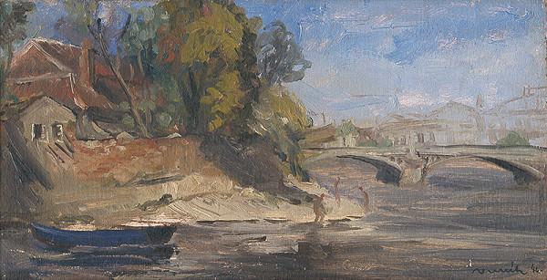 Július Nemčík - Pohľad na Vltavu