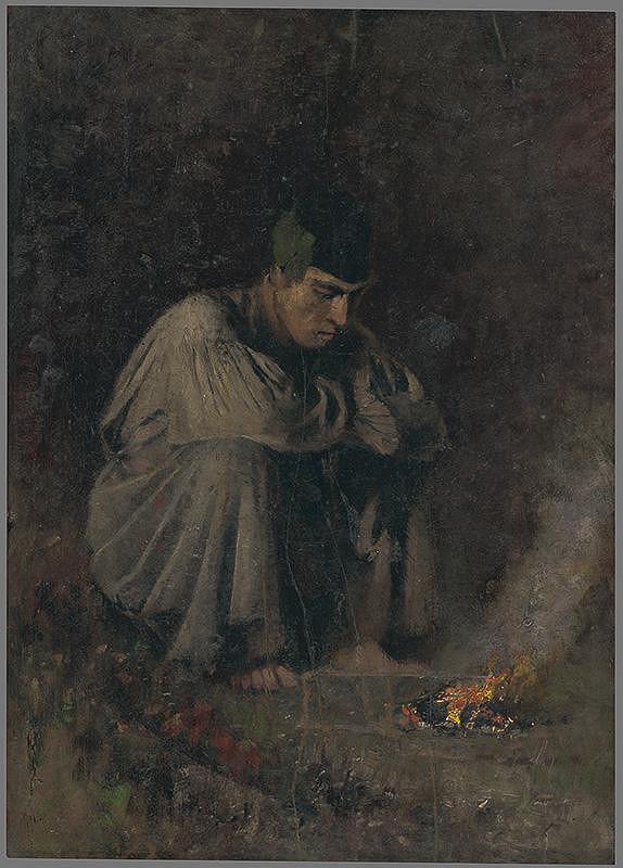 Ladislav Mednyánszky – Pastier koní