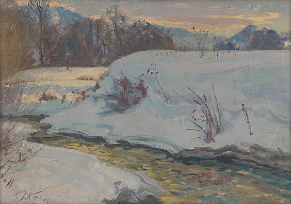 Peter Július Kern – Zima na Demänovke