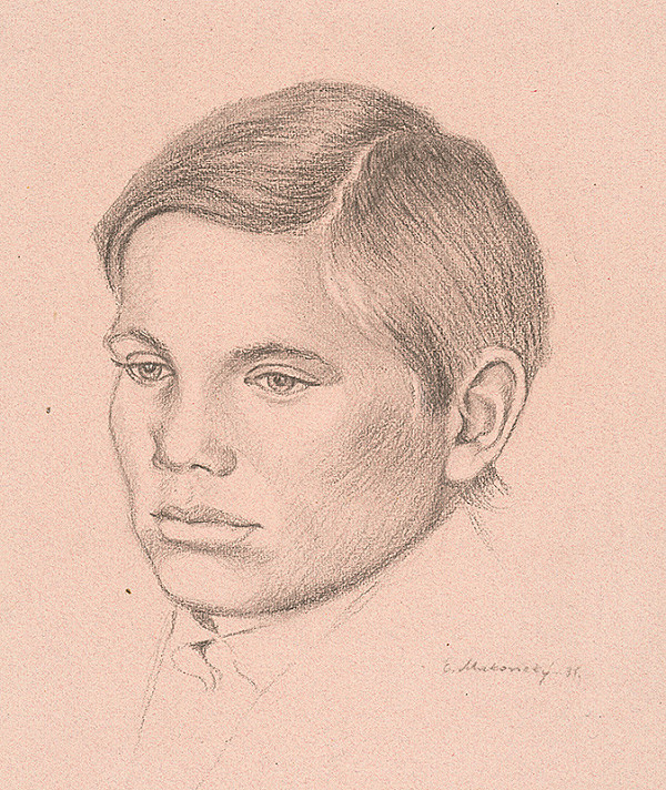 Emil Makovický – Portrét mládenca