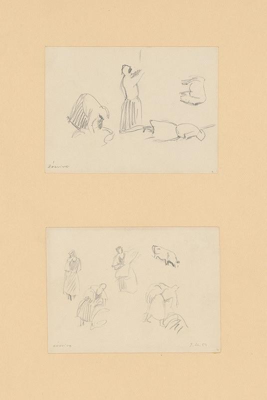 Emil Makovický - Dve figurálne štúdie