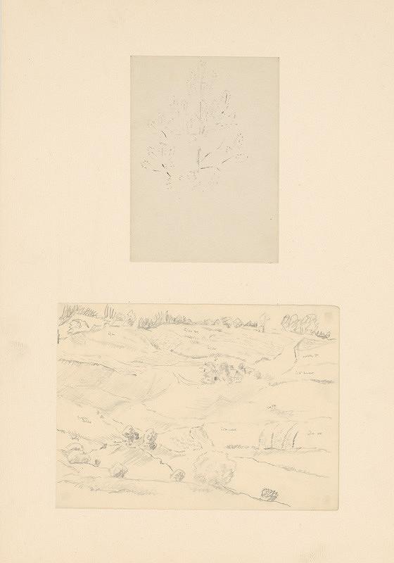 Emil Makovický - Dve štúdie stromu a krajiny