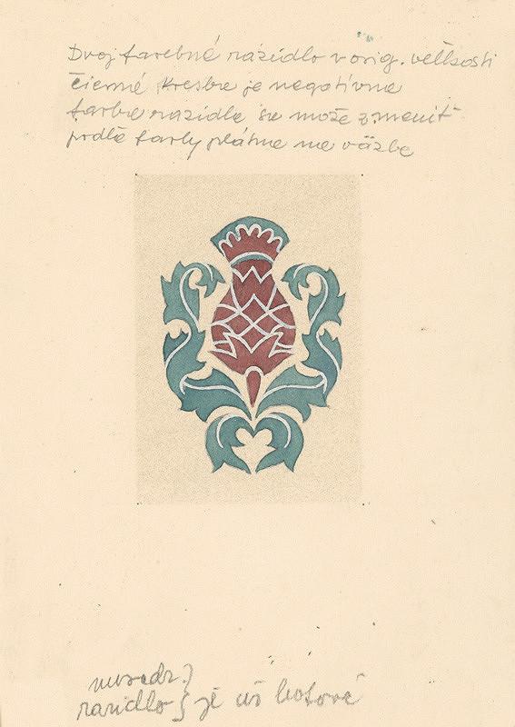 Emil Makovický – Ornamentálna vigneta, Návrh na razidlo na knižnú obálku