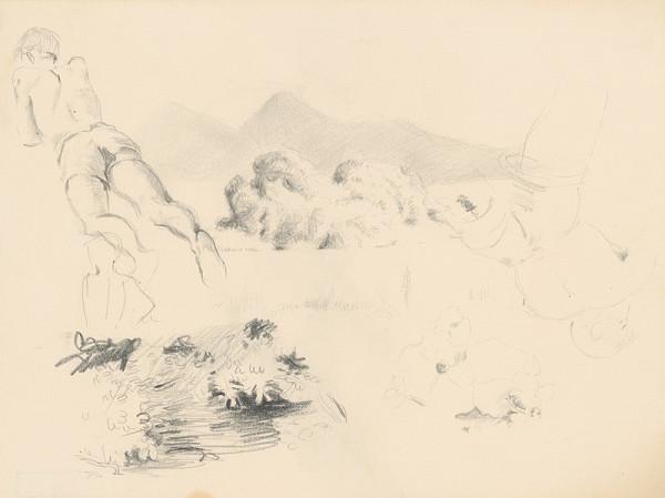Emil Makovický – Figurálne a krajinárske náčrty