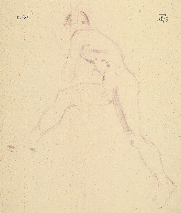 Emil Makovický – Mužský akt v pohybe