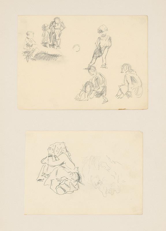 Emil Makovický - Dva figurálne náčrty