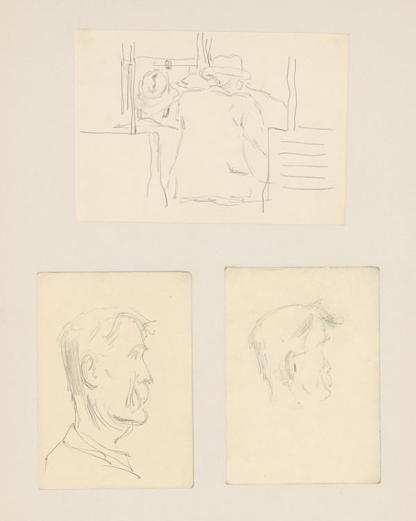 Emil Makovický - Tri portrétne a figurálne štúdie