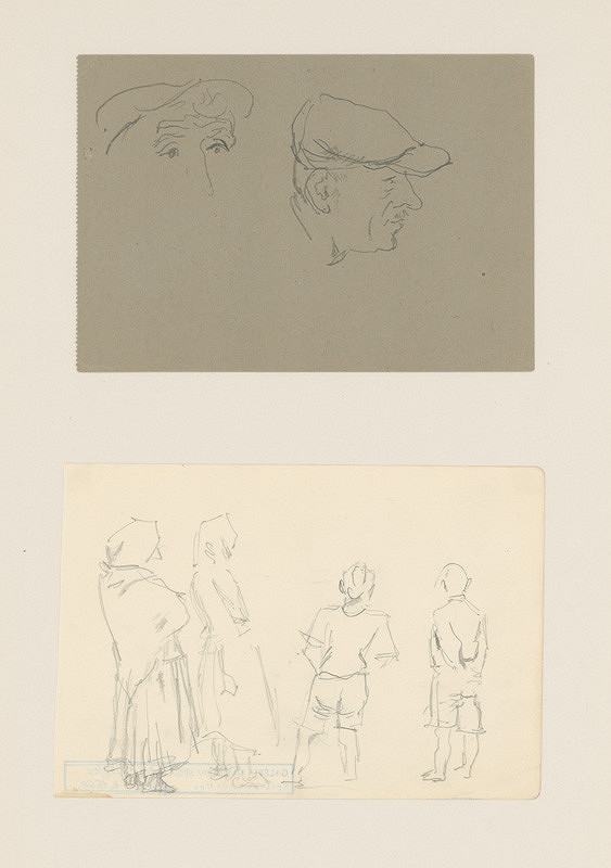 Emil Makovický - Dve portrétne a figurálne štúdie