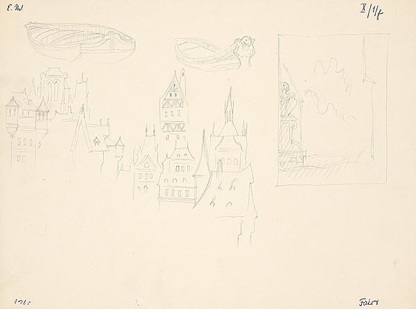 Emil Makovický – Štúdia gotickej architektúry a člnov