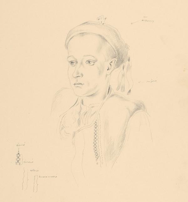 Emil Makovický - Poprsie chlapca v kroji