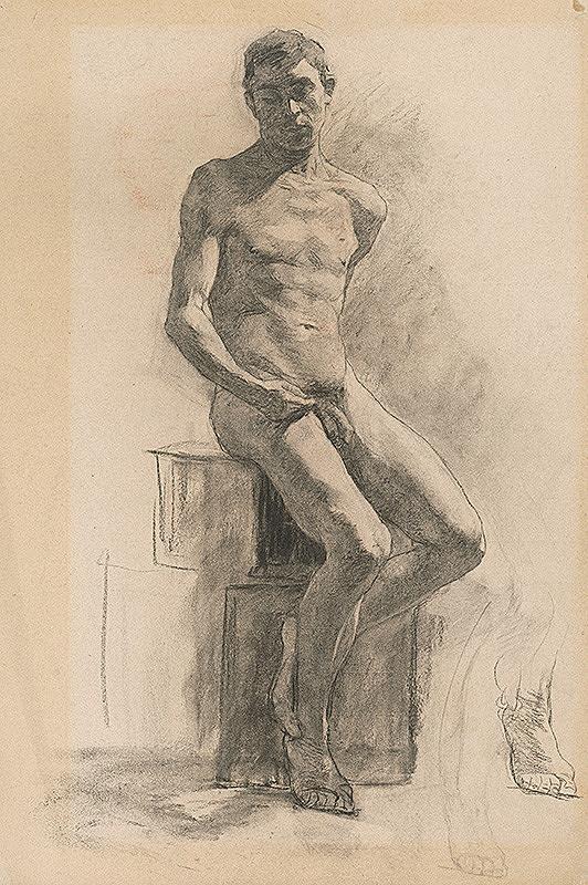 Jozef Hanula - Štúdia mužského aktu