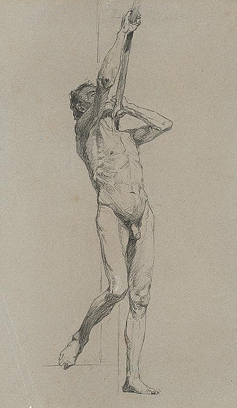 Jozef Hanula – Štúdia stojaceho mužského aktu