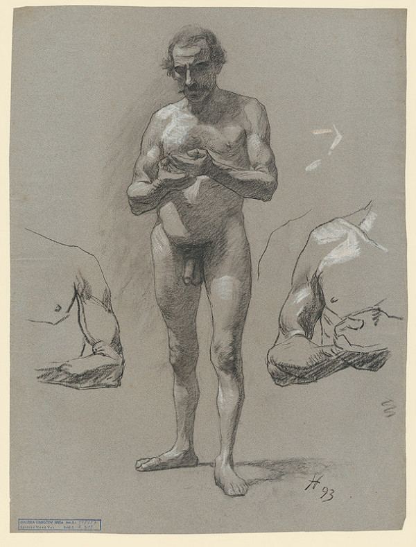 Jozef Hanula - Štúdia stojaceho mužského aktu