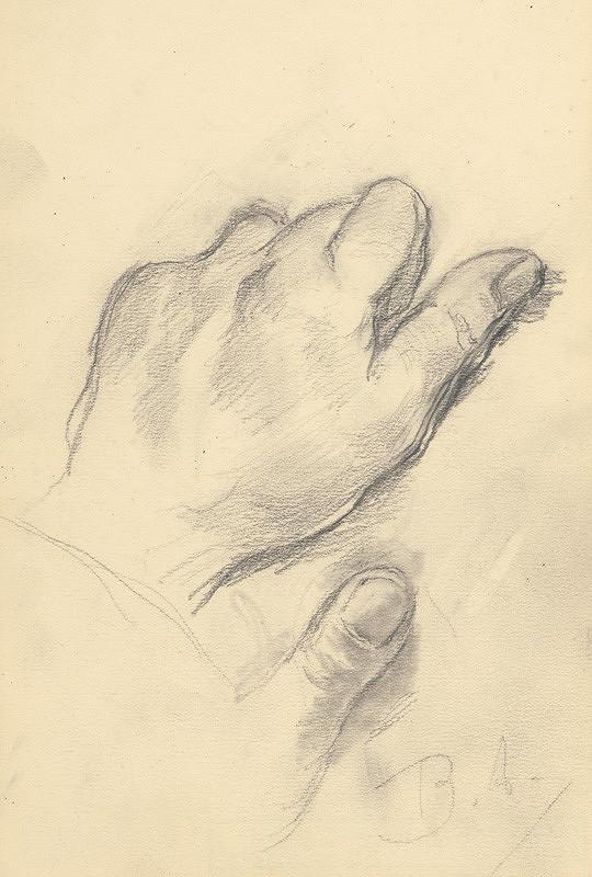 Andor Borúth - Kresba - skica ruky