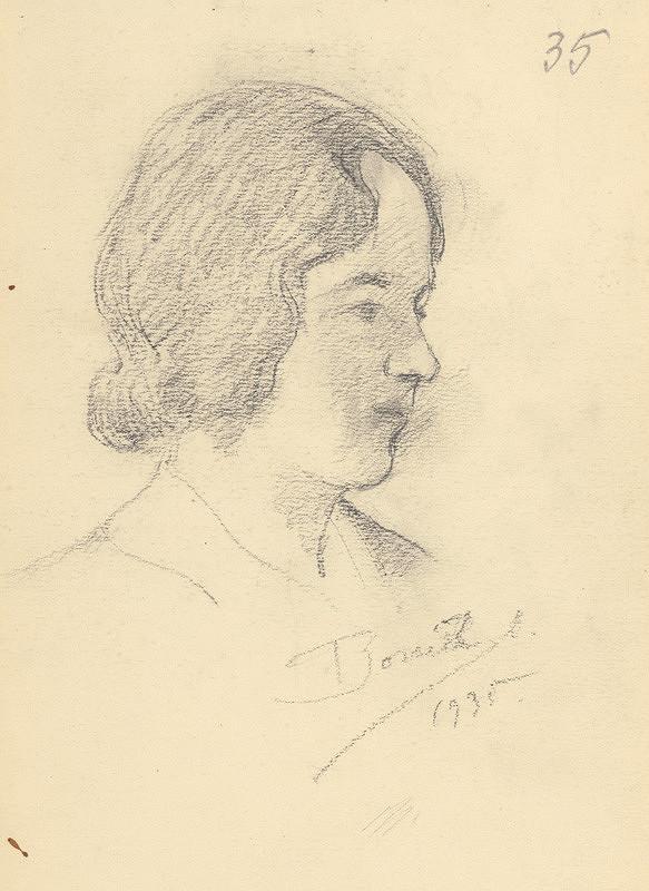 Andor Borúth - Hlava ženy