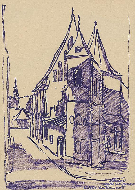 Ján Šimo-Svrček - Kraków - Kostol sv. Tomáša