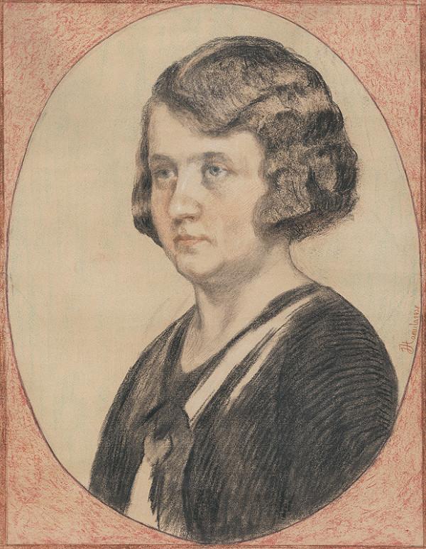 Jozef Hanula – Portrét Márie Hanulovej