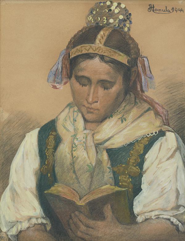 Jozef Hanula – Čítajúca v kroji