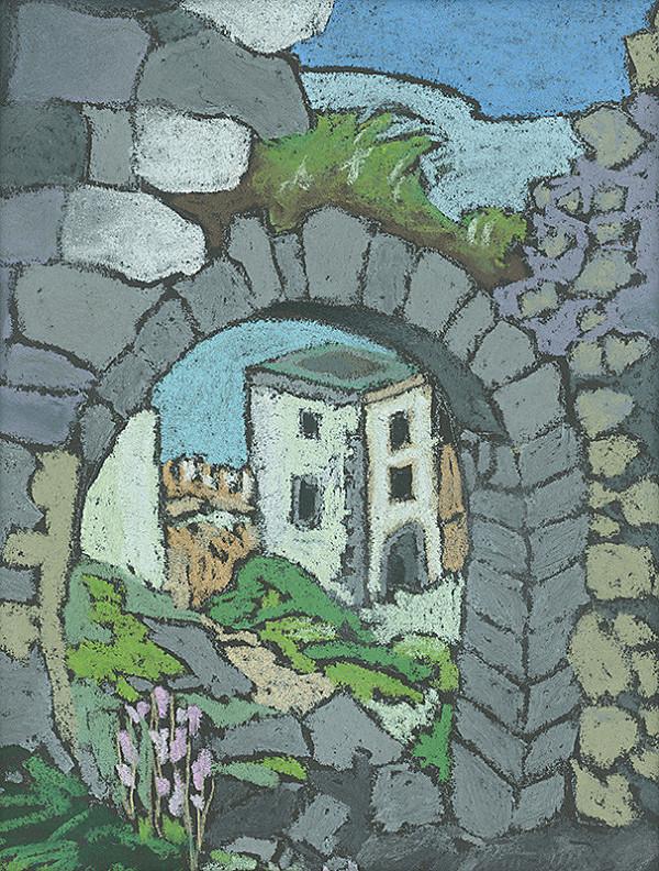 Ján Šimo-Svrček – Spišský hrad - pred úpravou