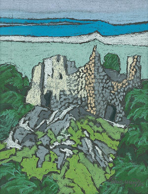 Ján Šimo-Svrček – Znievsky hrad - zrúcaniny