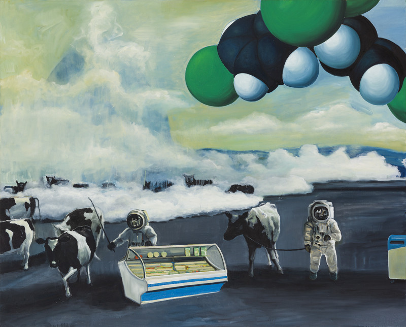 Slavomír Durkaj – Krajina s kravami, 2011