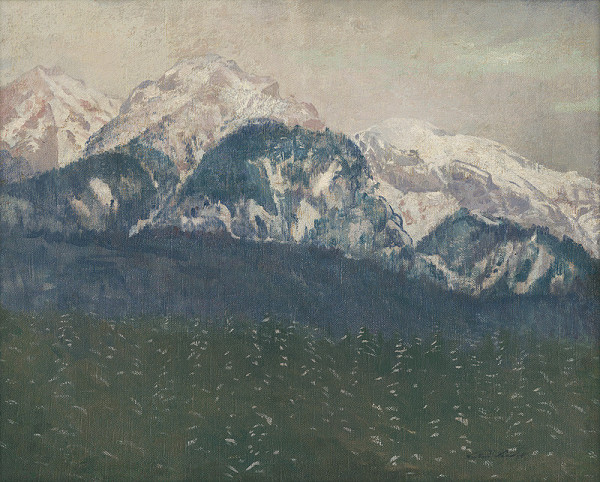 Ferdinand Katona - Pohľad na Vysoké Tatry