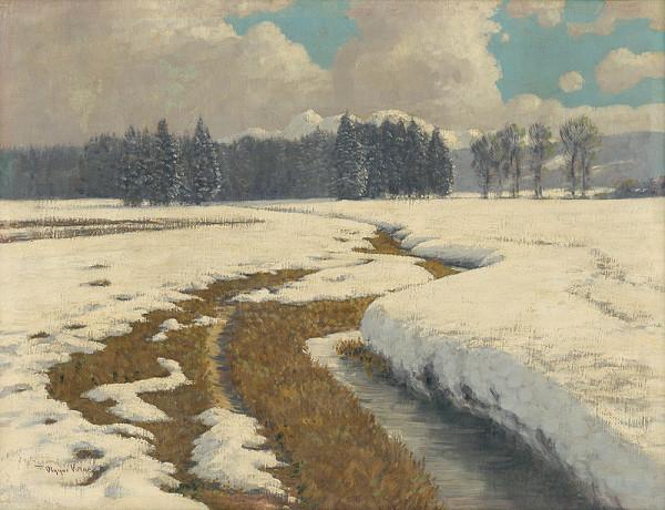 Viktor Olgyai - Zimná krajina