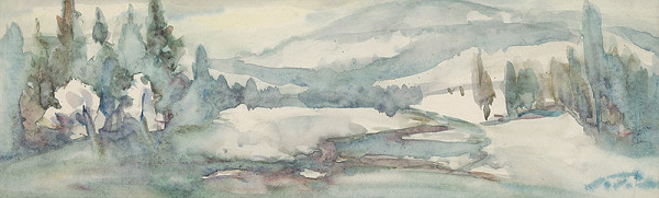 Ján Polom - Zimná krajina