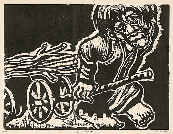 František Hübel – Muž s vozíkom