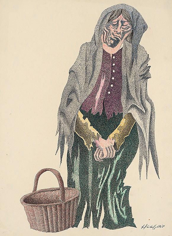 František Hübel – Starena s košíkom