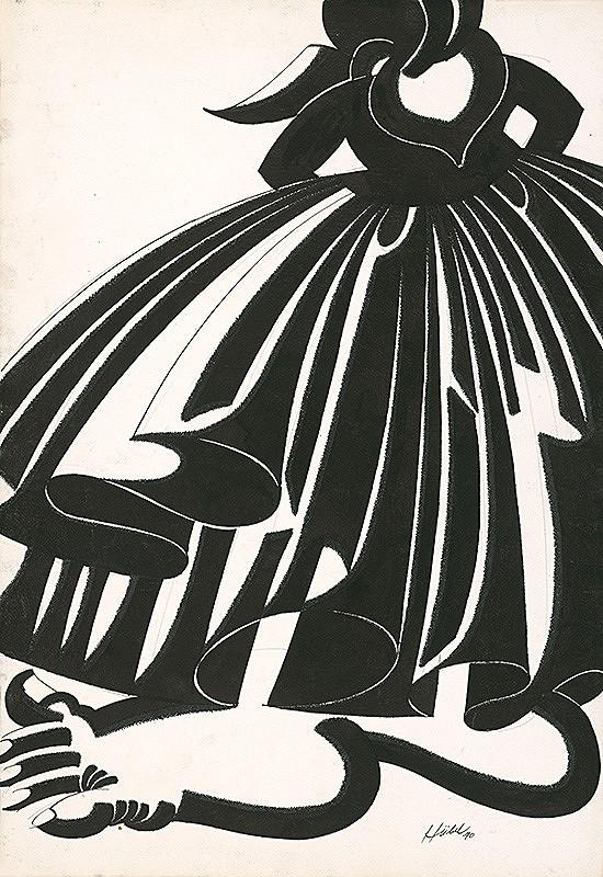 František Hübel – Bosá žena
