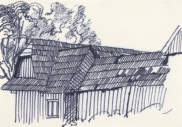 František Hübel – Štúdia drevenice X.