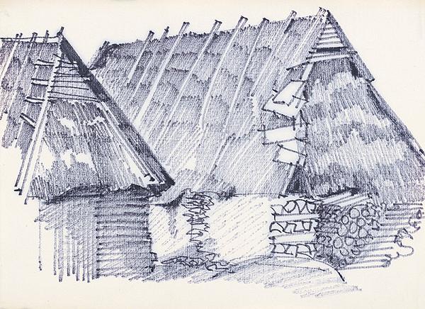 František Hübel – Štúdia drevenice  XV.