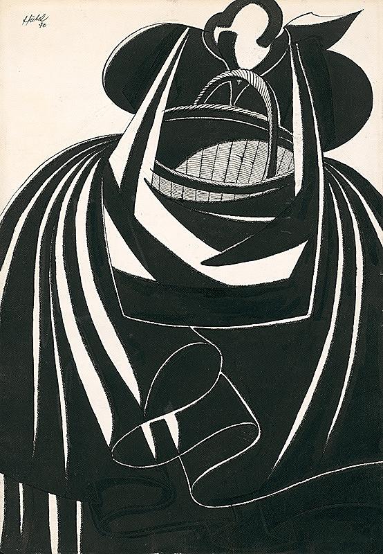 František Hübel – Žena s košom