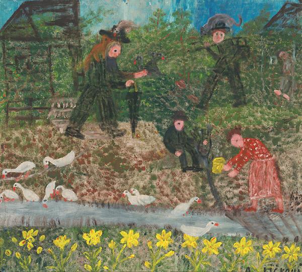 Anna Ličková – V záhrade