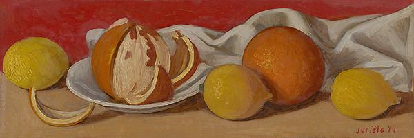 František Jurišta – Zátišie s pomarančami