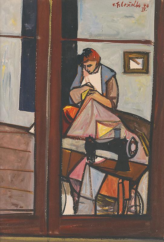 Vincent Hložník – Žena pri šijacom stroji