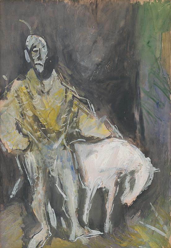 Vincent Hložník – Žltý clown s bielym koníkom