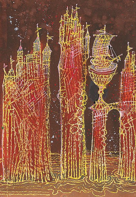 Miroslav Cipár – Ilustrácia Dievčatko v mušli