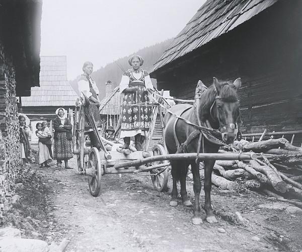 Pavol Socháň – Žena na voze- Liptovská Osada