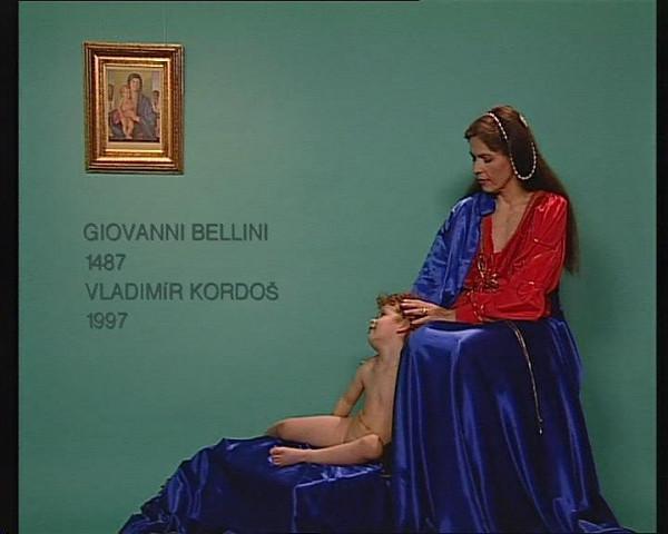 Vladimír Kordoš - Madona s dieťaťom/Giovanni Belini, 1487/Vladimír Kordoš, 1997