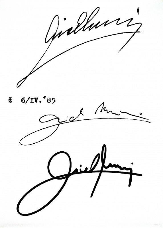 Michal Murin - Podpis Michala Murina, môjho otca z roku 1971 a moje podpisy z rokov 1985 a 1998