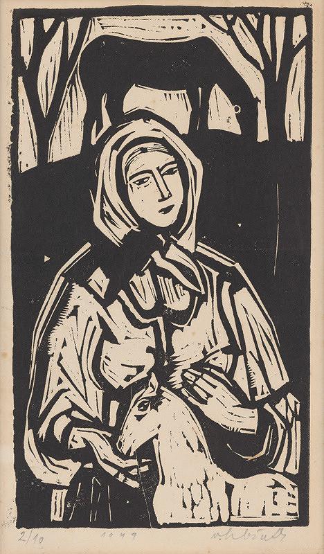 Vincent Hložník – Žena so žriebätkom