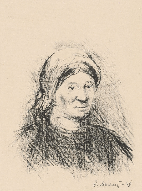 Dezider Milly - Žena v šatke