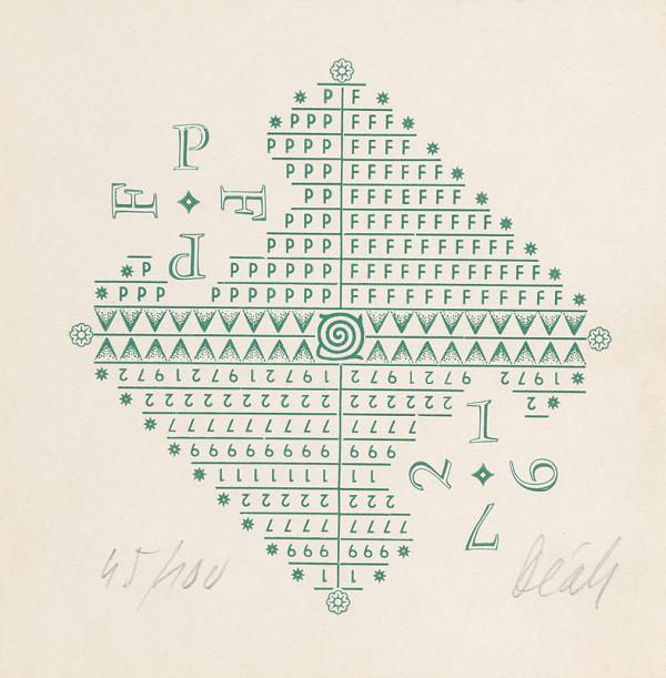 Juraj Deák – PF 1972 - Graphic art